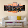 Saint Peter Basilica at sunset Multi panel canvas wall art