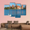 Medieval castle of Trakai, Vilnius, Lithuania multi panel canvas wall art