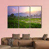 Tropical valley with rice terraces and trees. Bali. Indonesia Multi panel canvas wall art