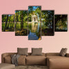Garden of Villa Borghese, Rome, Italy multi panel canvas wall art