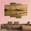 Taj Mahal in sunset scene multi panel canvas wall art