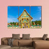 Buddhist temple Wat Kaew Manee Si Mahathat near Phuket in Thailand multi panel canvas wall art