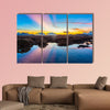 Coral reef emerges from the water at a reduced water level multi panel canvas wall art