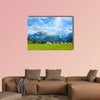 Alps mountain meadow tranquil summer view (Austria, Gosau village outskirts) Multi panel canvas wall art