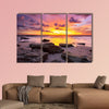 Tropical beach at beautiful sunset. Nature background Multi panel canvas wall art