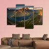 Panorama of Segla summit and village in sunset, Norway wall art