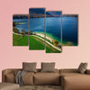 Beautiful blue water and green pasture,Bohijn lake , aerial view of wall art