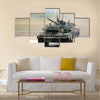 The main Russian tank T-90 Multi Panel Canvas Wall Art