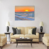 Sunset at the Aegean sea Multi Panel Canvas Wall Art