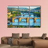 Vltava River and bridges Multi panel canvas wall art