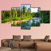 Warm Sunny summer day pure mountain river Multi panel canvas wall art