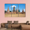 View of ruins of the old city of Ayutthaya, Thailand Multi panel canvas wall art