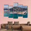 Aerial view of the biggest sailing yacht in the world multi panel canvas wall art