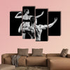 man and a woman in the gym Multi panel canvas wall art