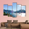 Lake in mountains, beautiful photo multi panel canvas wall art