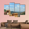 The Amber Fort overlooking the town of Amer multi panel canvas wall art