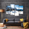 The Grindelward, Switzerland In The Winter, Multi Panel Canvas Wall Art