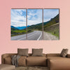 Mountain road at sunset, multi panel canvas wall art