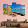 Lake Lucerne bench and waterfront view, Switzerland multi panel canvas wall art