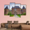 Historical castle in Vondern near Oberhausen multi panel canvas wall art