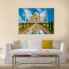 Beautiful Taj Mahal in India Multi Panel Canvas Wall Art