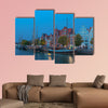 Historical cityscape with traditional sailing ships, wall art