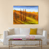 A photo of Sunrise in autumn in New Zealand Multi Panel Canvas Wall Art