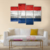 netherlands flag painted on old wood background Multi panel canvas wall art