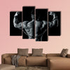 An image of a handsome young muscular sports man Multi panel canvas wall art