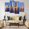 Overview of Barcelona Spain to Mananecer Multi panel canvas wall art