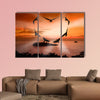 Valentine bird multi panel canvas wall art