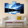 Northern lights (aurora) Multi panel canvas wall art