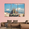 La Sagrada Familia in Barcelona, Spain multi panel canvas wall art