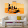 Camel Caravan in the Sahara Desert Multi Panel Canvas Wall Art