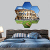Colosseum in Rome, Italy hexagonal canvas wall art