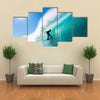 Surfer on Blue Ocean Wave Multi panel canvas wall art