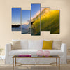 Sunset Surfer Multi Panel Canvas Wall Art