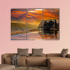 Snow Mountain trailhead huts, Taichung, Taiwan multi panel canvas wall artv