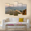 The beautiful great wall winding in ridge at sunrise multi panel canvas wall art
