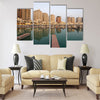 Residential buildings and empty Marina Multi panel canvas wall art