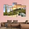 Chianti vineyard landscape in Tuscany, Italy multi panel canvas wall art
