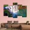 Painting style of Shifen waterfall  Township  multi panel canvas wall art