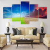 Ecology landscape Multi Panel Canvas Wall Art