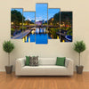sea canal in Ruoholahti district in Helsinki, Finland multi panel canvas wall art