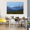 An Afternoon In Alaska Showing The Glacier Valley And Mountain Range, Multi Panel Canvas Wall Art