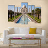 Beautiful Taj Mahal monument in Agra Multi Panel Canvas Wall Art