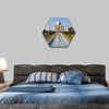Beautiful Taj Mahal monument in Agra, India hexagonal canvas wall art