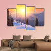 Winter landscape on a sunset, Mountains Carpathians, Ukraine wall art