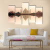 Amazing Panoramic view of Taj Mahal Multi Panel Canvas Wall Art