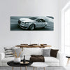 3d rendering of a brandless generic car panoramic canvas wall art